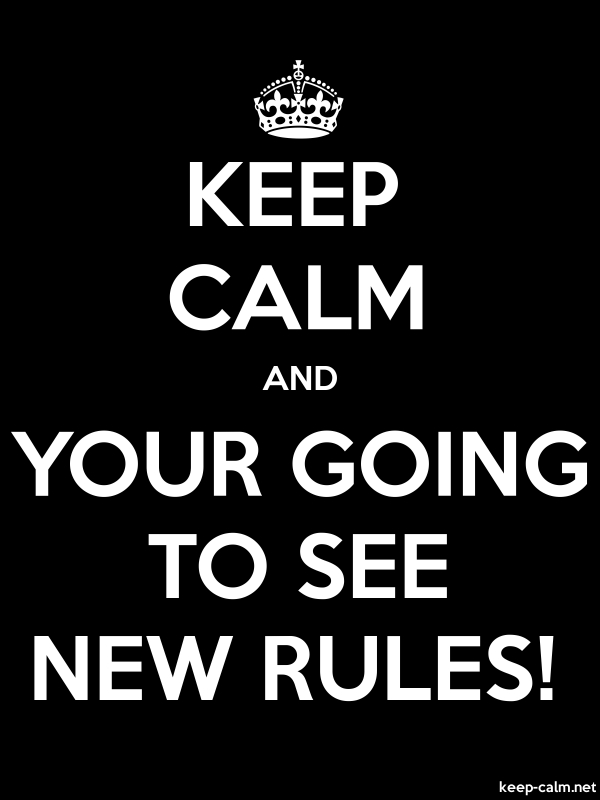 KEEP CALM AND YOUR GOING TO SEE NEW RULES! - white/black - Default (600x800)