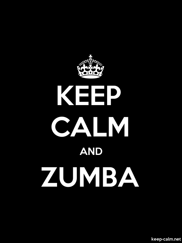 KEEP CALM AND ZUMBA - white/black - Default (600x800)