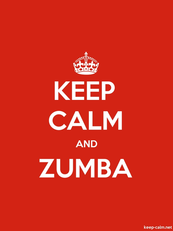 KEEP CALM AND ZUMBA - white/red - Default (600x800)